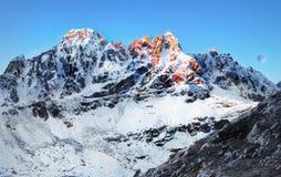 Mountains Sunrise Himalaya stock image