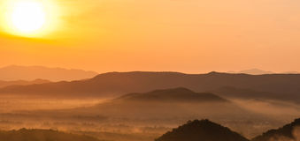 The mountains. Sunrise Royalty Free Stock Photos