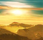 Mountains on sunset Royalty Free Stock Image