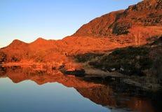 Mountains at sunset. Killarney mountains - Co. Kerry - Ireland Royalty Free Stock Photo