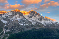 Mountains at sunset Royalty Free Stock Photos