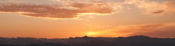 Mountains sunset Royalty Free Stock Photo