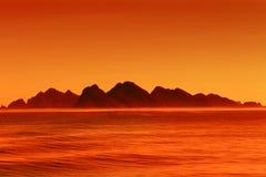 Mountains at sunset Stock Image