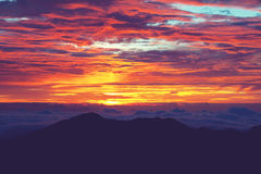 Mountains on sunset Royalty Free Stock Photography