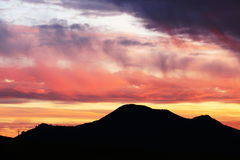 Mountains on sunset Royalty Free Stock Photo