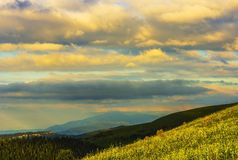 Mountains at sunset Royalty Free Stock Images