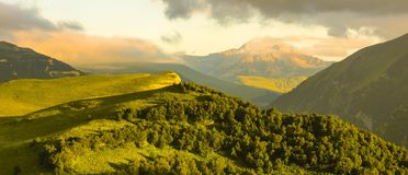 Mountains at sunset Stock Photography