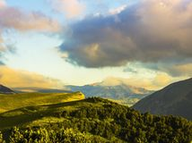 Mountains at sunset Royalty Free Stock Photo