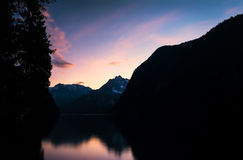 Mountains With Sunset Royalty Free Stock Image