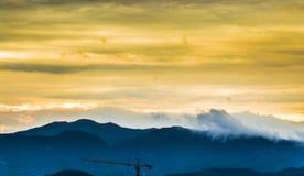 Mountains Sunset landscape Stock Photos