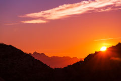 Mountains in sunset Royalty Free Stock Photography