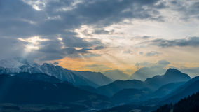 Mountains in Sunset Stock Photos