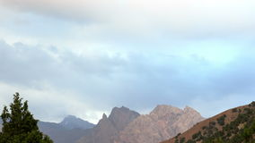 Mountains at sunset. Pamir, Tajikistan. 4K Stock Image