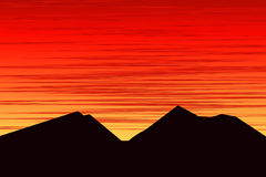 Mountains at sunset. Royalty Free Stock Images