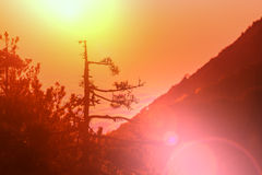 Mountains on sunset Royalty Free Stock Photo