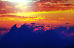 Mountains on sunset Stock Photography