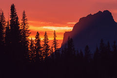 Mountains sunset Royalty Free Stock Photography