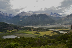 Mountains surrouding Cerro Castillo, Chilean Patagonia Stock Image