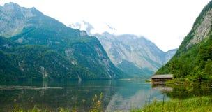 Mountains surround Koenigssee lake Royalty Free Stock Photos