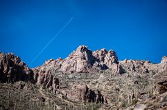 The mountains that surround Sabino Canyon. The rocky mountains that surround Sabino canyon in Tucson, Arizona Stock Images