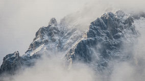 Mountains Surrounded by Fog Stock Image