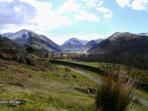 Mountains surrounding Brothers Water, Lake District Stock Photography