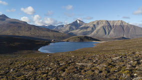 Mountains at Svalbard, Spitzbergen. Mountains and lake at Svalbard, Spitzbergen Royalty Free Stock Image