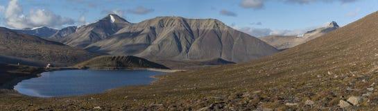 Mountains at Svalbard, Spitzbergen. Mountains and lake at Svalbard, Spitzbergen Royalty Free Stock Photos