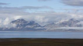 Mountains at Svalbard, Spitzbergen Stock Photo