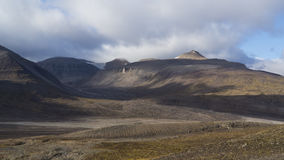 Mountains at Svalbard, Spitzbergen. Mountains landscape at Svalbard, Spitzbergen Royalty Free Stock Photography