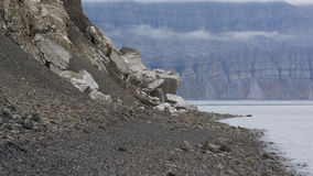Mountains at Svalbard, Spitzbergen Stock Photography