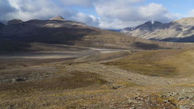 Mountains at Svalbard, Spitzbergen. Mountains landscape at Svalbard, Spitzbergen Stock Photo