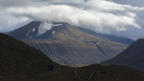 Mountains at Svalbard, Spitzbergen Royalty Free Stock Images