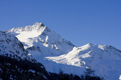 Mountains in the swiss alps Stock Photo