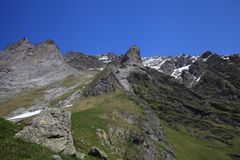 Mountains of the swiss alps Royalty Free Stock Images