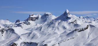 Mountains in the Swiss Alps seen from Stoos Royalty Free Stock Images