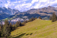 Mountains  in the swiss Alps Royalty Free Stock Images