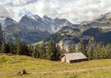 Mountains  in the swiss Alps Stock Images