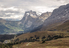Mountains  in the swiss Alps Stock Image