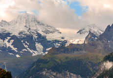 Mountains  in the swiss Alps Royalty Free Stock Photos