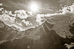Mountains  in the swiss Alps Royalty Free Stock Image