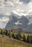 Mountains  in the swiss Alps Royalty Free Stock Photography