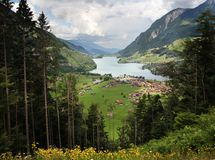 Mountains swiss lake Royalty Free Stock Photography