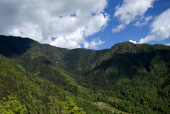Mountains, Takthsang Goemba, Bhutan Royalty Free Stock Photography