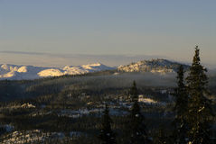 Mountains in telemark royalty free stock image