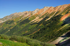 Mountains in Telluride, Colorado. Mountains on the Alpine Loop Road in Telluride, Colorado Royalty Free Stock Photos
