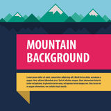 Mountains template advertising layout Royalty Free Stock Images