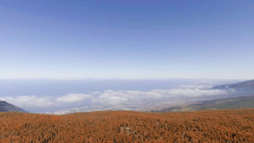 Mountains of Tenerife, aerial view Royalty Free Stock Photography