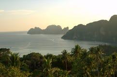 Mountains on Thailand ocean Royalty Free Stock Photos