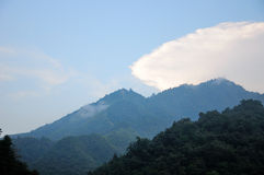 Mountains of Tian Mu Shan Town China Royalty Free Stock Photos